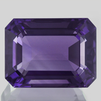 Large Emerald Cut Amethyst