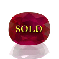 Almost 3 carats!  Certified Unheated, Untreated Burma Ruby for Vedic Astrology (Jyotish) and Ayurveda 2.81 carats