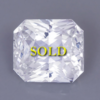 Certified Unheated Untreated White Sapphire 12 carats