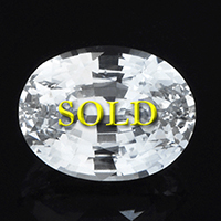 Certified Unheated Untreated White Sapphire 8 carats
