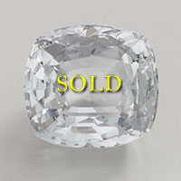 Heated Untreated White Sapphire 3.78 carats