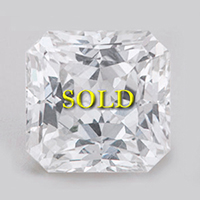 Certified Unheated Untreated White Sapphire 2.25 carats