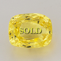 Radiant Cut Untreated Unheated Yellow Sapphire for Vedic Astrology (Jyotish) and Ayurveda 2.59 ct