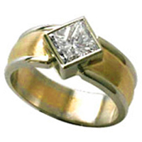Men's Diamond Gold Ring for Jyotish (Vedic Astrology)& Ayurveda