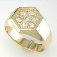Men's 9 Diamond Ring for Jyotish