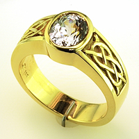 White Sapphire Gold Ring for Jyotish & Ayurveda