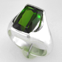Jyotish Green Tourmaline Ring