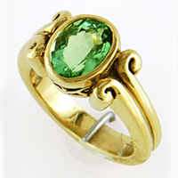 Gold Emerald Ring for Jyotish / Astrology / Ayurveda