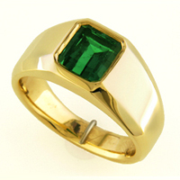 Women's Emerald Ring for Astrology