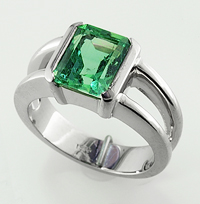 Women's Green Tourmaline Ring for Astrology
