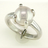 Women's Pearl Ring Jewelry for Jyotish/Astrology