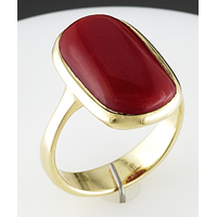 Red Coral Ring for Jyotish (Vedic Astrology)