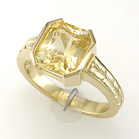 Women's Yellow Sapphire Jyotish Ring