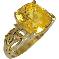 Yellow Sapphire Ring for Jyotish (Vedic Astrology) & Ayurveda